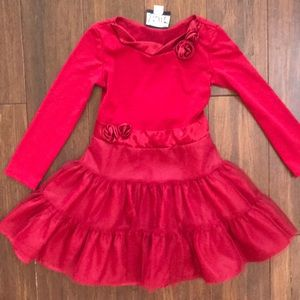 Red girl's dress